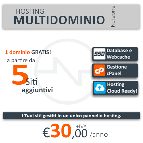 Hosting professionale configurabile a partire da € 18,00/anno