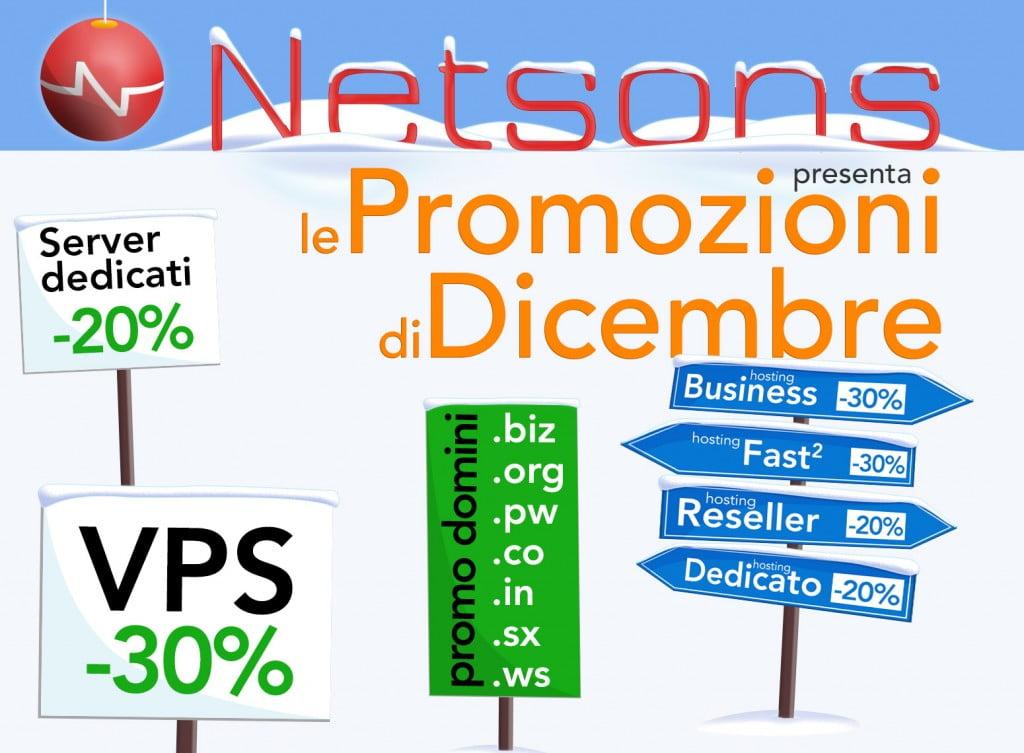 Promozioni Netsons di dicembre