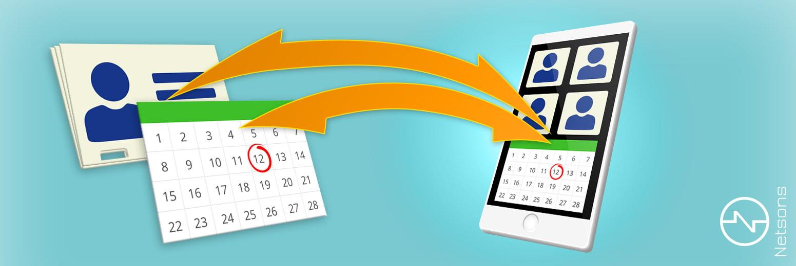Sincronizza calendario e contatti dalla posta al cellulare