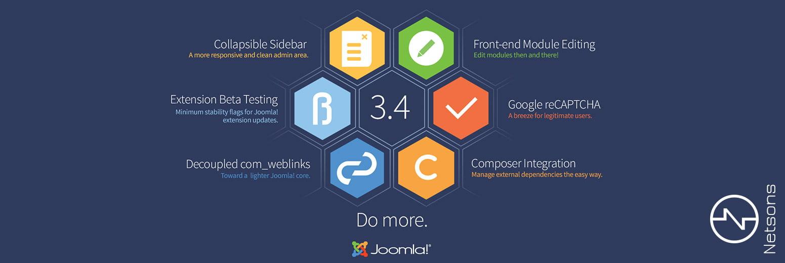 Rilasciata la versione 3.4 di Joomla