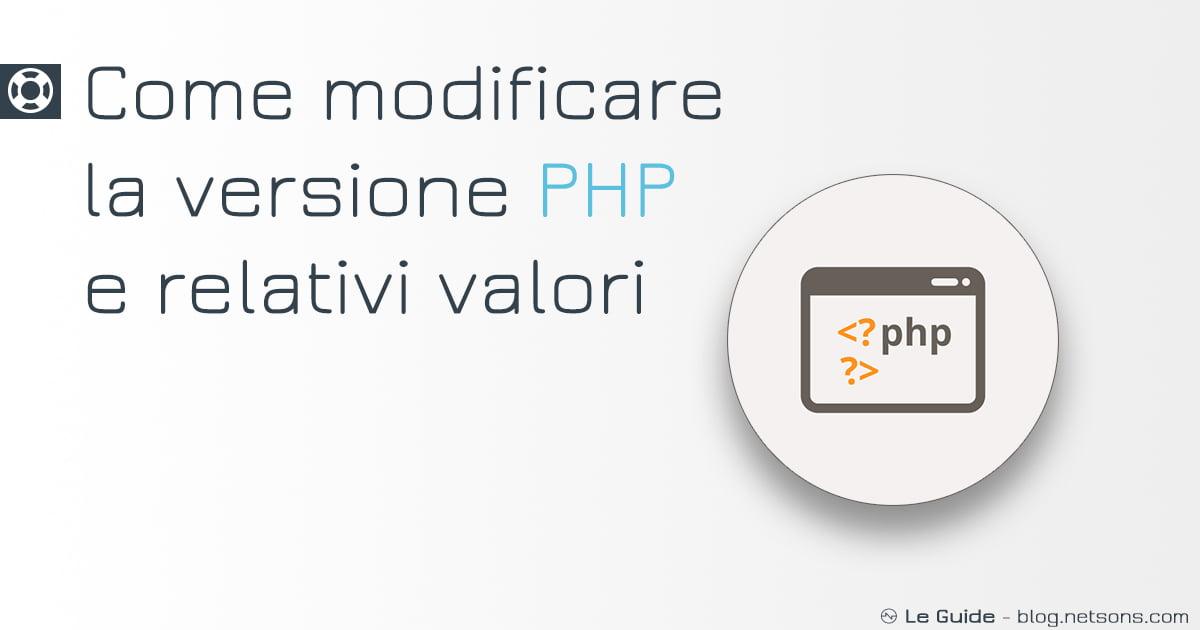 MODIFICARE-VERSIONE-PHP