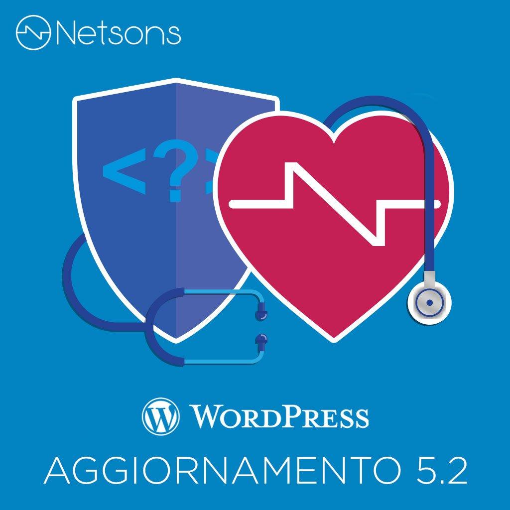 wordpress aggiornamento 5.2 salute sicurezza