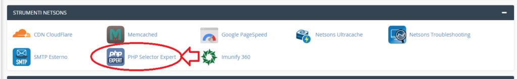 aggiornamento php selector expert