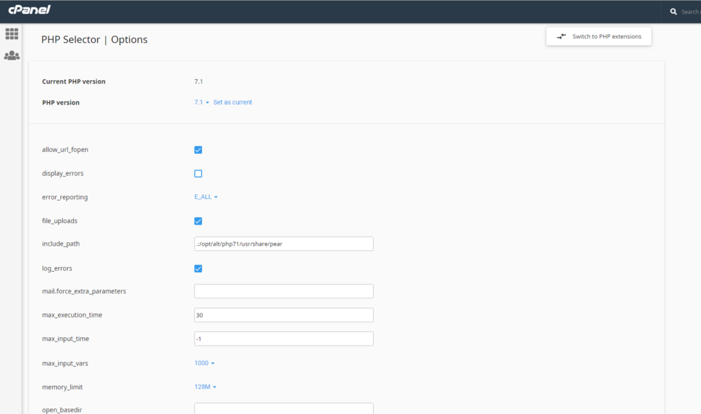 php selector aggiornamento php