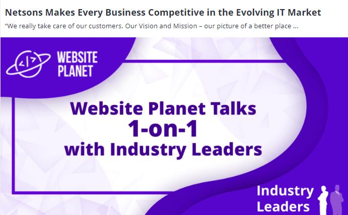 website planet banner