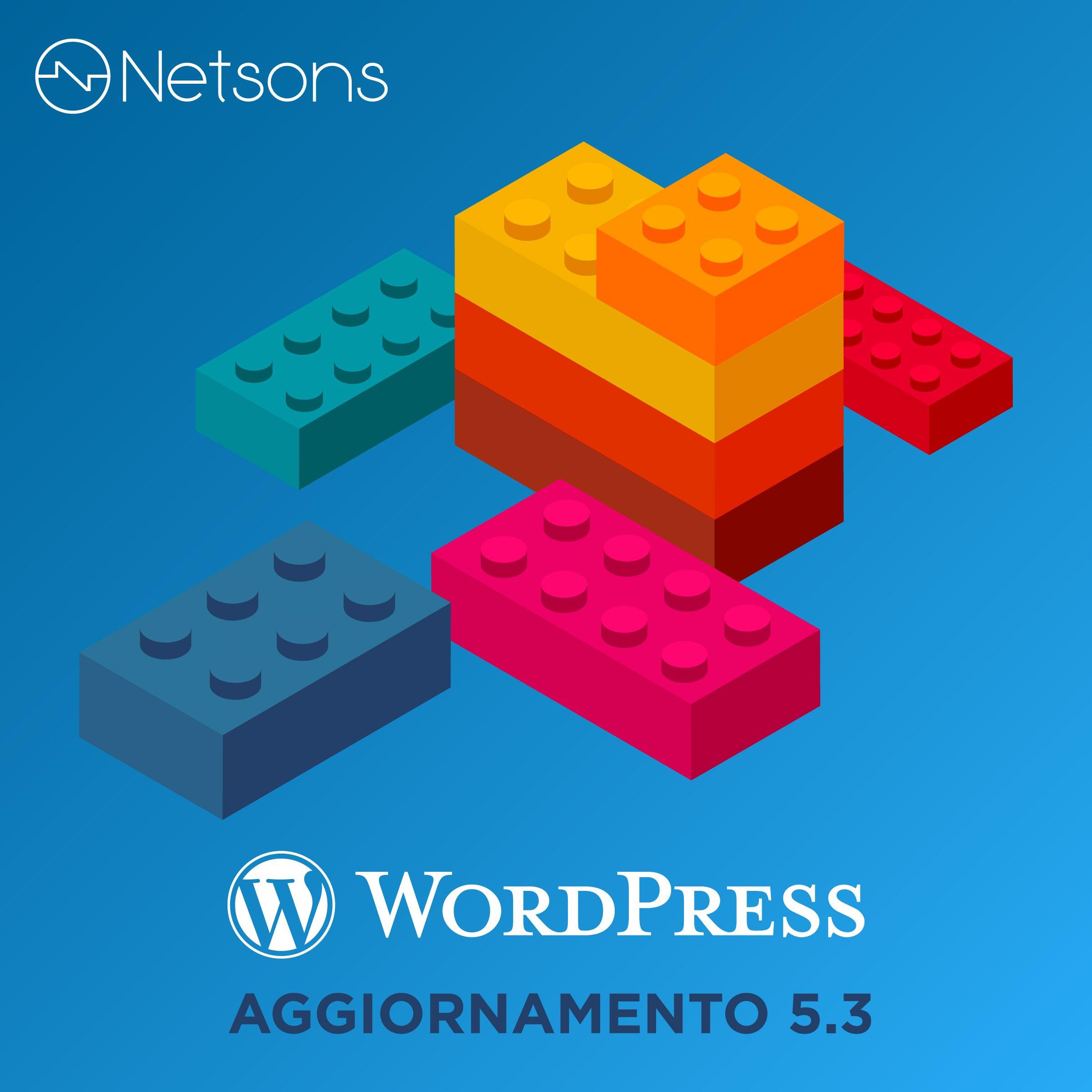 wordpress aggiornamento 5.3 kirk