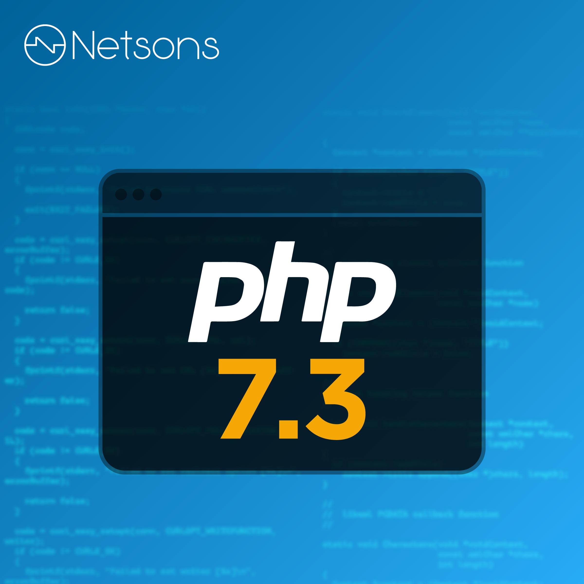 netsons aggiornamento php 7.3