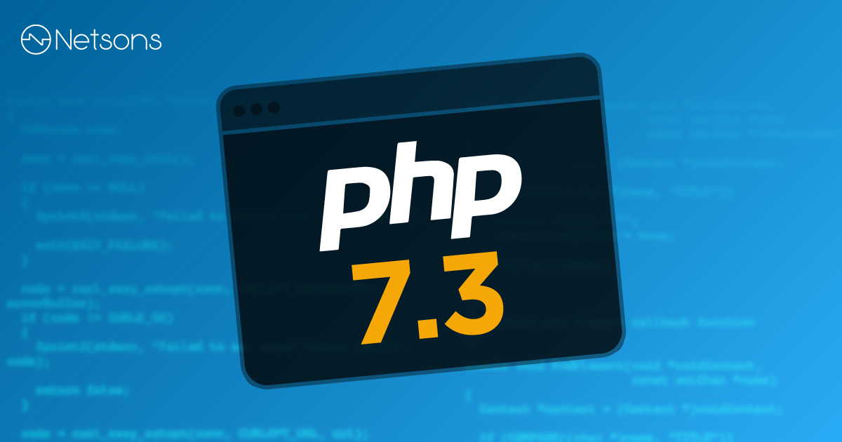 Netsons update PHP 7.3