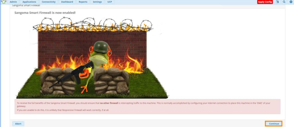 centralino freepbx firewall