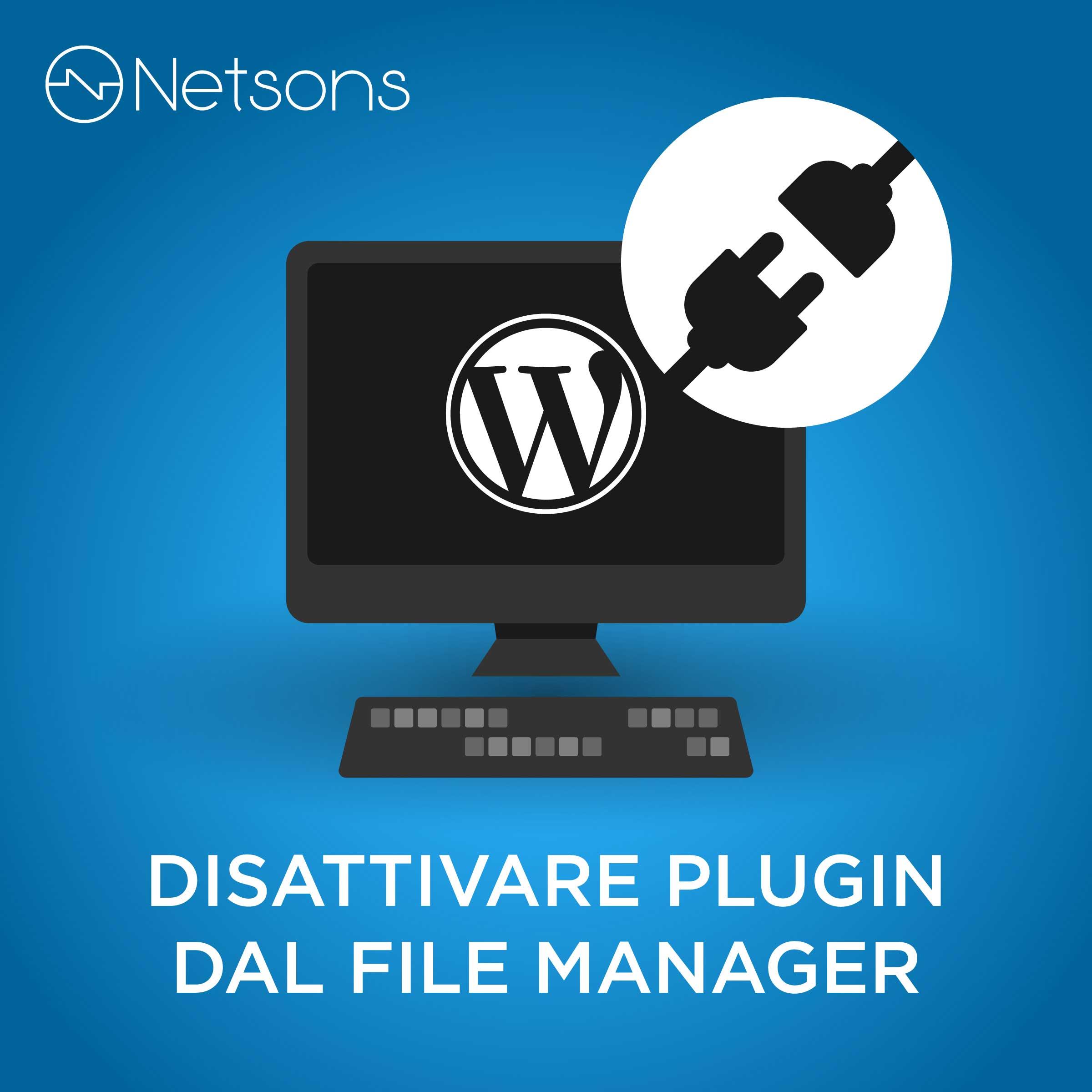 disattivare plugin da file manager