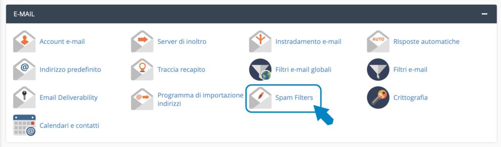 filtro antispam della mail
