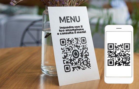 inquadra il QR code e naviga il menu sul ito web del ristorante