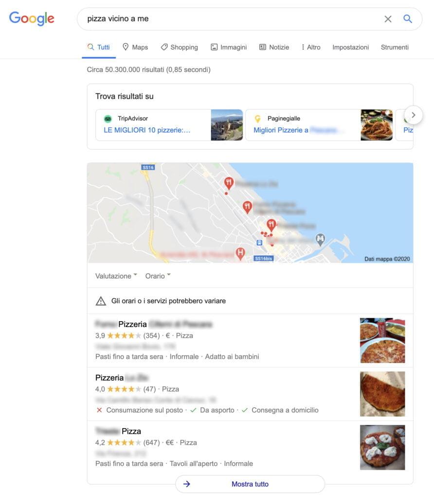 risultati ricerca ristorante sito web pizza vicino a me